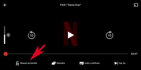 Netflix Bloqueo Pantalla