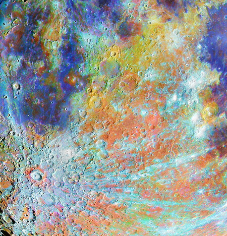 Om 40753 11 Winner Tycho Crater Region With Colours C Alain Paillou