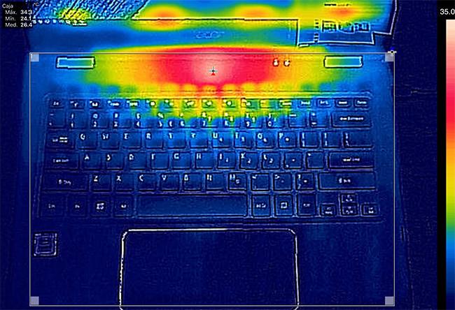 Acer Spin siete Captura Termica Carga