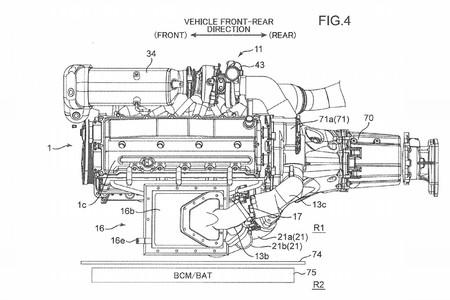 La extraña patente del motor biturbo y compresor eléctrico