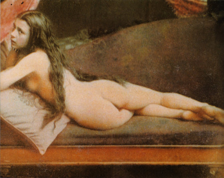 Nude Woman In Colored Daguerreotype By Felix Jacques Moulin