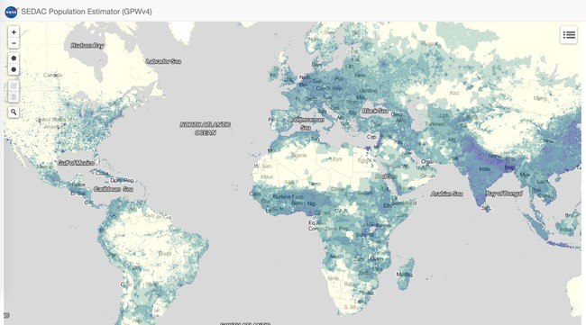 Window Y Sedac S Population Estimation Tools 2