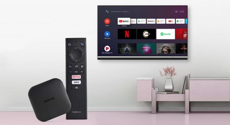 Nokia Media Streamer, a multimedia player with Android TV very similar to the Xiaomi Mi Box S