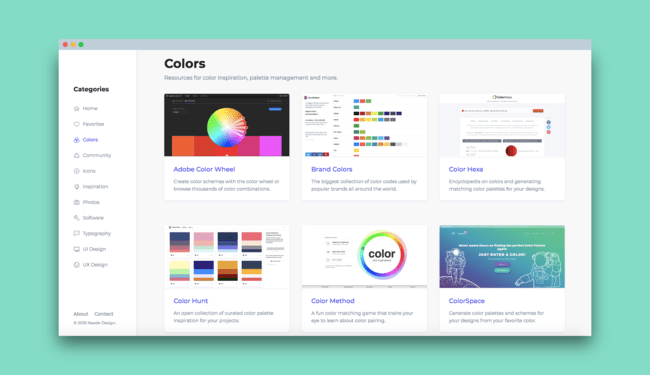 Permalink to Neede, una colección de recursos en línea útiles para diseñadores