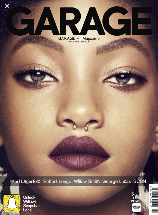 Garage  #11 Fall/Winter 2016:  Willow Smith