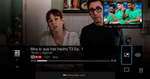 Movistar+ permitirá visualizar dos canales de televisión a la vez en el desco UHD
