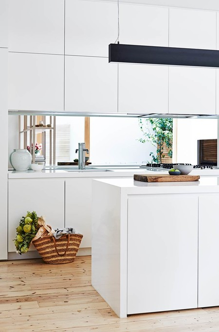 Mirrors in the kitchen