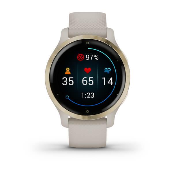 "Garmin Venu 2S Beige - 1.2"" AMOLED, 40mm, Garmin Pay, ABC Sensors, GPS, ANT + BT + WiFi"