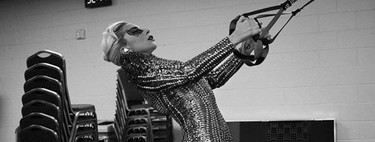 The circuit for 25 minutes with the Lady Gaga tones her whole body training only three days a week