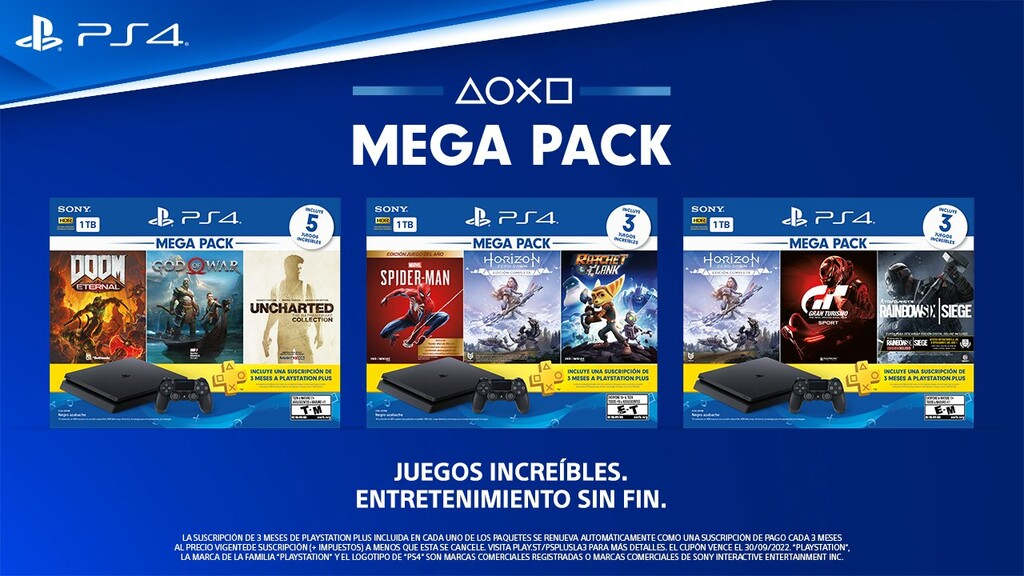 Sony anuncia tres nuevos paquetes de PS4 en México que incluyen juegos como 'Spider-Man', 'Doom' y hasta ' God of War'