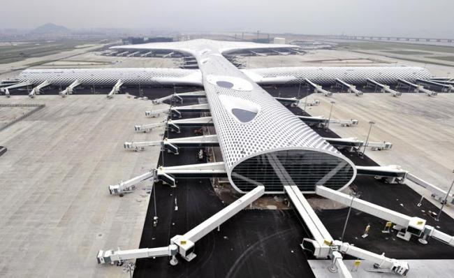 El nuevo aeropuerto internacional de Shenzhen China