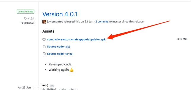 Window Y Releases Javiersantos Whatsappbetaupdater Github