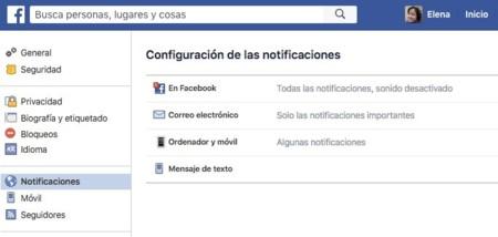 Desactivar notificaciones de vídeo en directo en Facebook