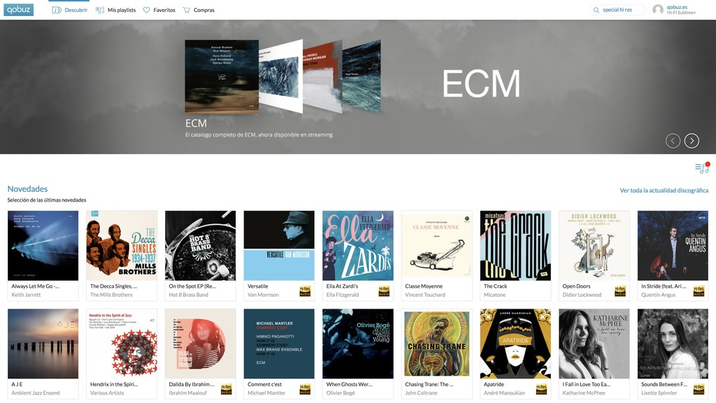 Qobuz Desktop Imac Discover Jazz Es