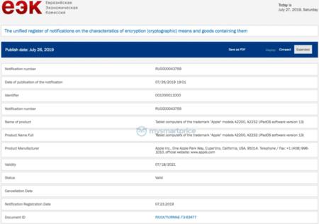 Nuevos iPad registrados Eurasia
