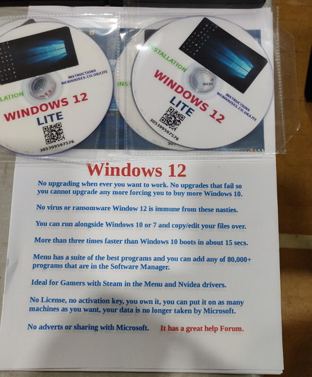 DVDs do Windows 12