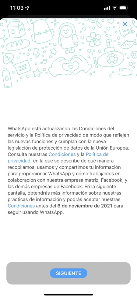 privacidad términos de uso whatsapp