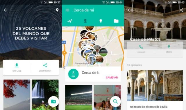 Capturas de Minube para Android