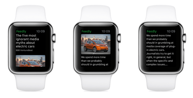 Feedly Apple Watch Articulos
