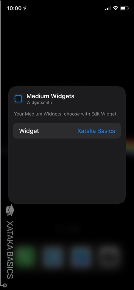Choose the widget