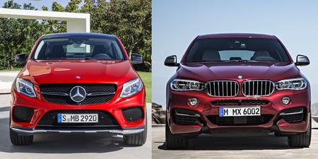 Mercedes-Benz GLE Coupé vs BMW X6 frontal