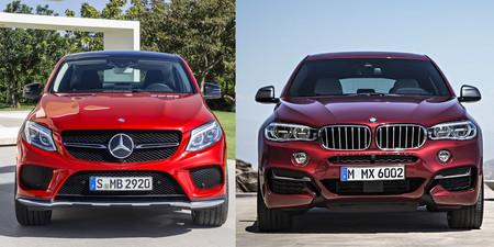 Mercedes-Benz GLE Coupé vs BMW X6 frontal