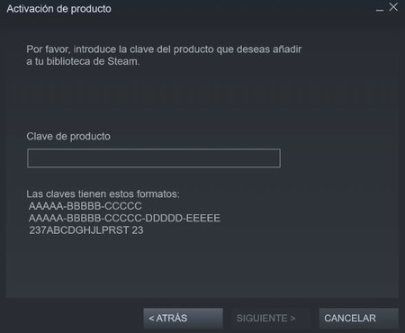 Introducir Clave Steam