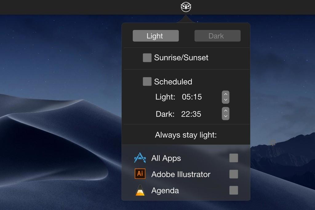 Permalink to NightOwl te ofrece múltiples formas de activar el modo oscuro en macOS según tus preferencias