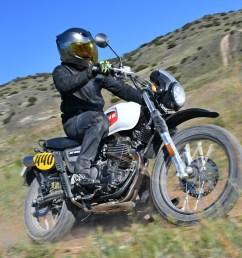 swm six days 440 2019 prueba moto trail pura para el carnet a2 sencilla y asequible [ 1366 x 911 Pixel ]