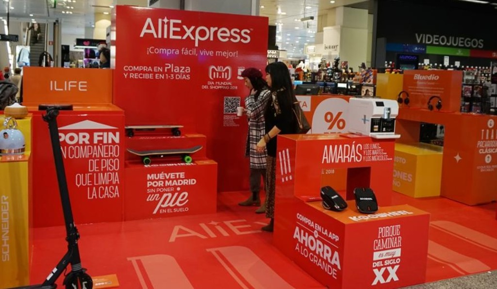 AliExpress viene a un convenio con El Corte Inglés para abrir una bazar temporal con fundamento del
