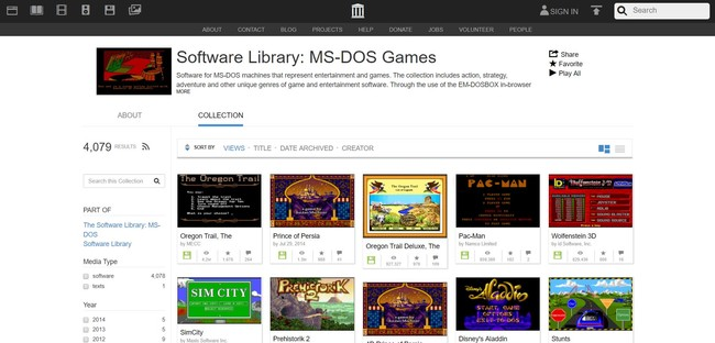 Ms Dos Games Archive Org Web