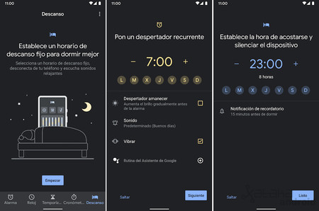 Google Clock launches the new 'Rest' section on any mobile with Android 6.0 or higher