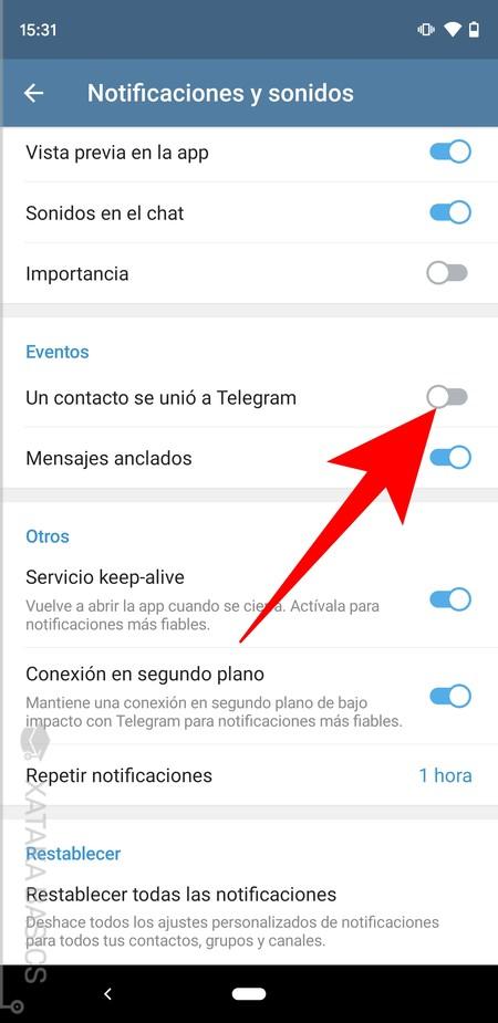 Un Contacto Se Unio A Telegram
