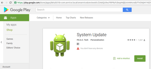 System Update Falso