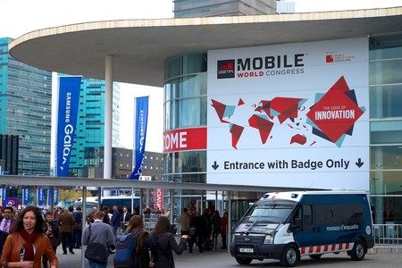 Entrada a la Fira de Barcelona, sede del Mobile