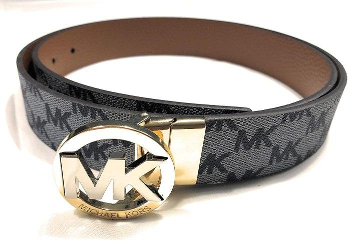 Michael Kors Gray and brown belt I Genuine leather I Reversible belt I Size MI Length 104 cm with buckle I 3 cm wide I Women's belt 2932