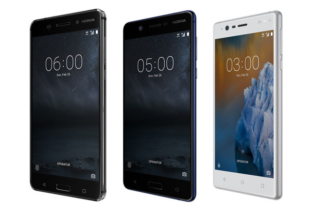 Nokia 3, Nokia 5 y Nokia 6