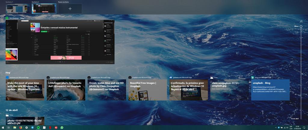 Windows 10 Linea De Tiempo