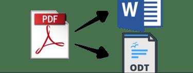 Cómo convertir un PDF a Word u ODT online y sin instalar nada