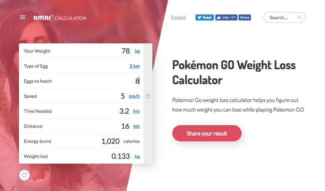 Pokemon Calculator Weight Loss