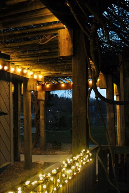 Iluminacin de exterior Luces de Navidad para el verano