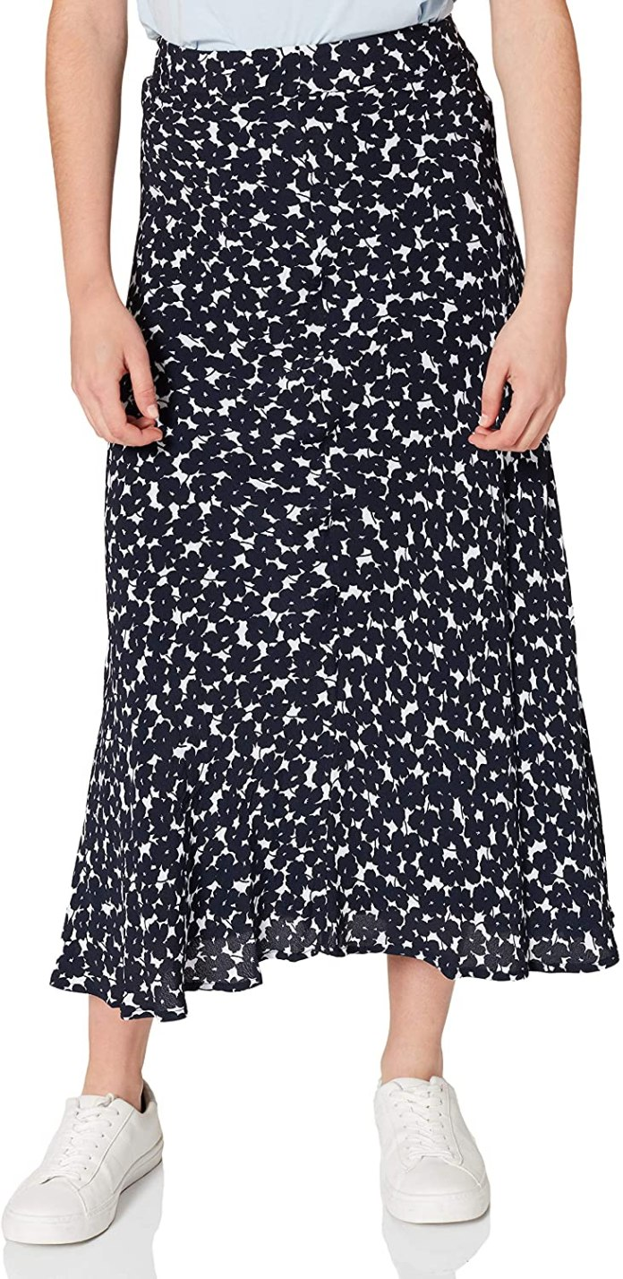 Tommy Hilfiger Women's Viscose Moss Crepe Midi Skirt Skirt