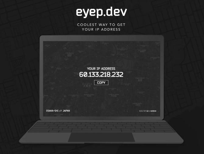 Eyep, una de las forma más geniales de saber tu dirección IP