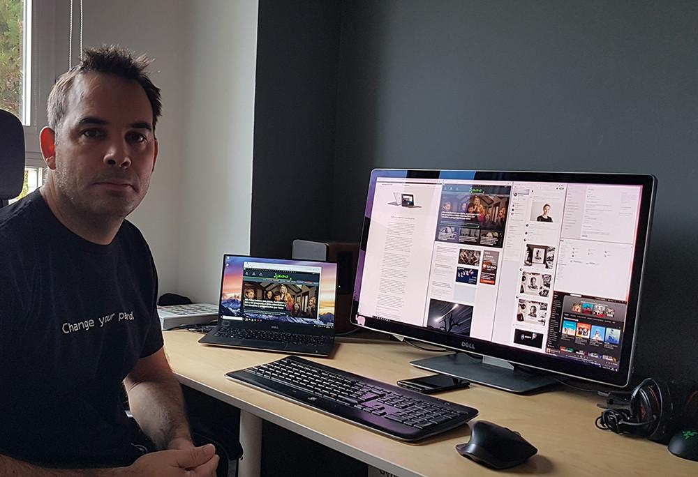 El dispositivo de Javier Pastor: ordenador, movil y más