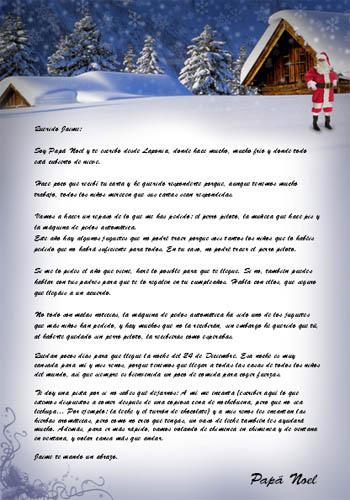 Haz tu propia carta para que Pap Noel responda a los nios
