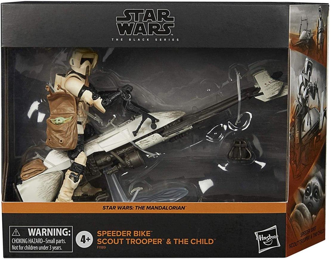 STAR WARS Hasbro The Black Series - Figuras a Escala de 15 cm de Speeder Bike Scout Trooper y The Child - The Mandalorian - Set de colección de Figura y vehículo