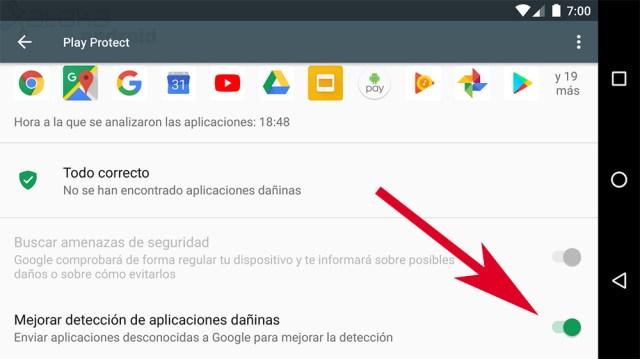 Mejorar detección de apps dañinas
