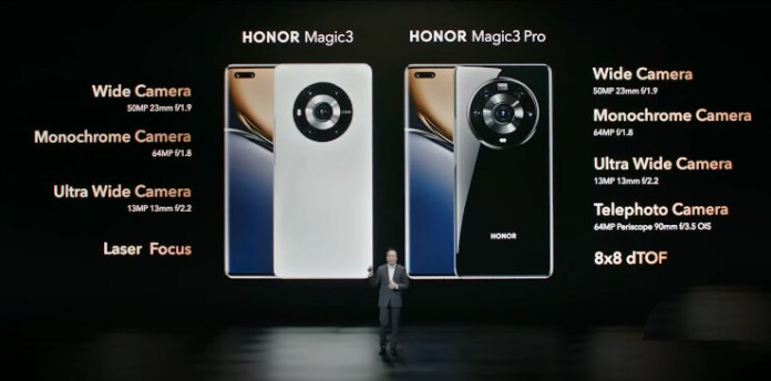 Honor Magic3 and Honor Magic3 Pro, data sheet of characteristics and price