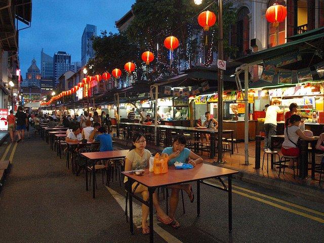 Costumbres de Asia los Food Court o comer en la calle