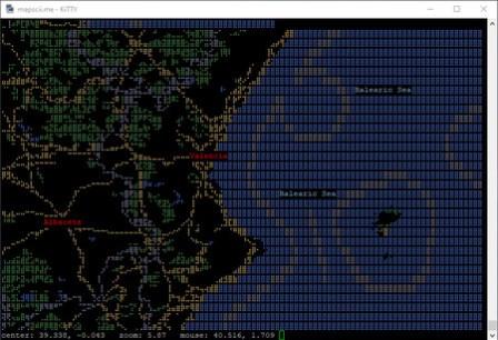 MapSCII: um mapa interativo de todo o mundo em seu terminal Windows, Linux ou macOS